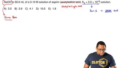 Calculate the pH of the solution resulting from the addition of 10.0 mL of 0.1...