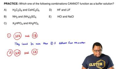 Which one of the following combinations CANNOT function as a buffer solution? ...