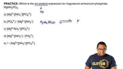 Which is the ion product expression for magnesium ammonium phosphate, MgNH4PO4...