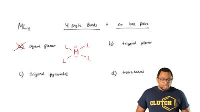 The molecule of the type ML4 consists of four single bonds and no lone pairs. ...
