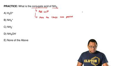 What is the conjugate acid of NH 3  A) H3O+  B) NH4+  C) NH2-  D) NH4OH-  E) N...