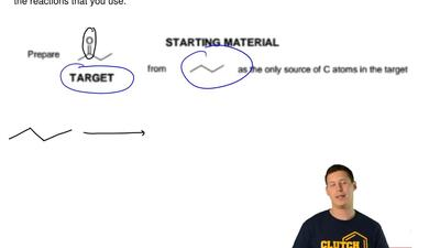 Propose a sequence of reactions to synthesize the target compound from the ind...