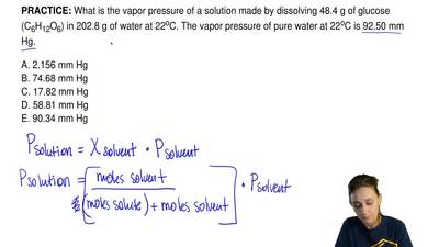 What is the vapor pressure of a solution made by dissolving 48.4 g of glucose ...