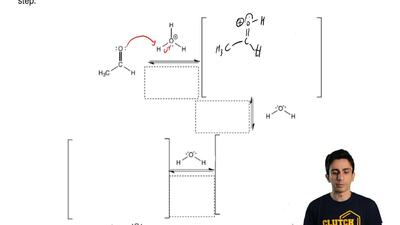 Complete the mechanism for the following oxidation of an aldehyde reaction. Dr...
