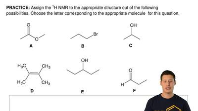 Assign the 1H NMR to the appropriate structure out of the following possibilit...