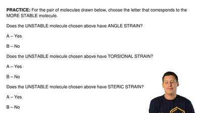 For the pair of molecules drawn below, choose the letter that corresponds to t...