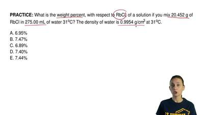 What is the weight percent, with respect to RbCl, of a solution if you mix 20....