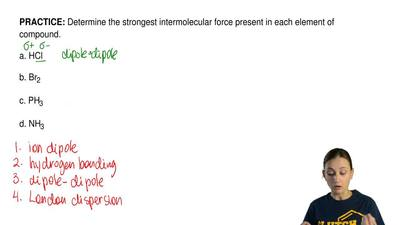 Determine the strongest intermolecular force present in each element of compou...