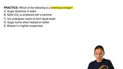 Which of the following is a chemical change? A. Sugar dissolves in water B. So...