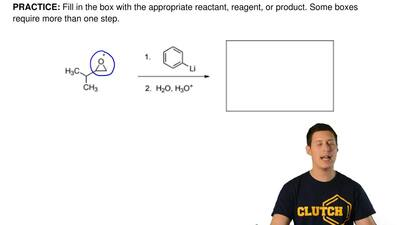 Fill in the box with the appropriate reactant, reagent, or product. Some boxes...