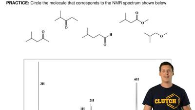 Circle the molecule that corresponds to the NMR spectrum shown below. ...