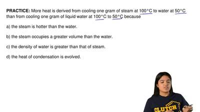 More heat is derived from cooling one gram of steam at 100°C to water at 50°C ...