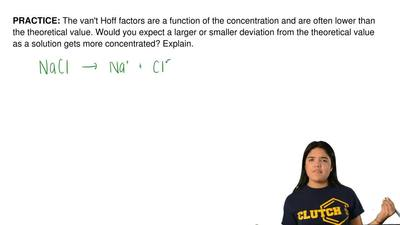 The van't Hoff factors are a function of the concentration and are often lower...