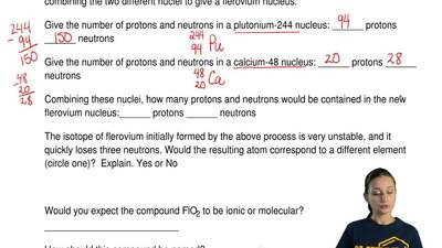 Answer the following questions.   Flerovium was made by bombarding plutonium-2...