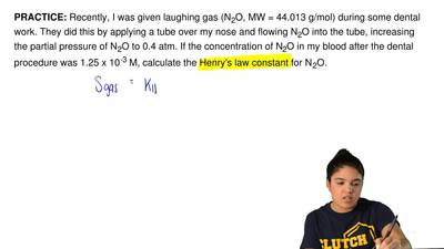 Recently, I was given laughing gas (N 2O, MW = 44.013 g/mol) during some denta...