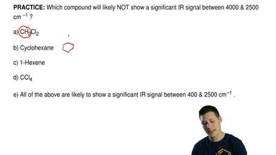 Which compound will likely NOT show a significant IR signal between 4000 &...