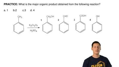 What is the major organic product obtained from the following reaction?  a. 1 ...