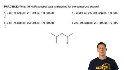 What  1H NMR spectral data is expected for the compound shown?  a. 3.8 (1H, se...