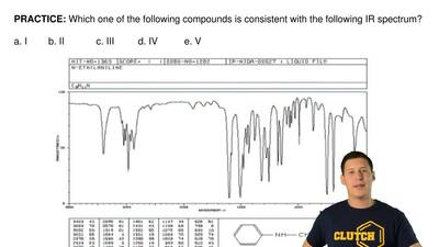 Which one of the following compounds is consistent with the following IR spect...