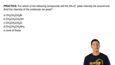 For which of the following compounds will the (M+2)+peak intensity be around...