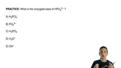 What is the conjugate base of HPO 42− ?  A) H2PO4−  B) PO43−  C) H3PO4  D) H3O...