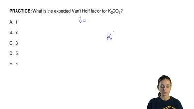What is the expected Van't Hoff factor for K2CO3?  A. 1  B. ...
