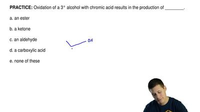 Oxidation of a 3° alcohol with chromic acid results in the production of _____...