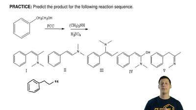 Predict the product for the following reaction sequence. ...