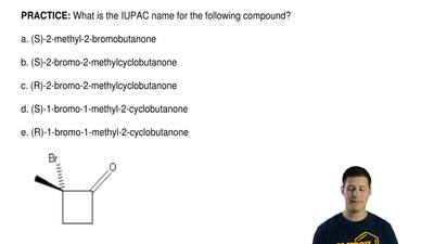 What is the IUPAC name for the following compound?  a. (S)-2-methyl-2-bromobut...