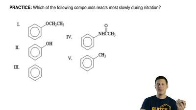 Which of the following compounds reacts most slowly during nitration? ...