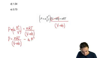 Use the van der Waal's equation to calculate the pressure (in atm) exerted by ...