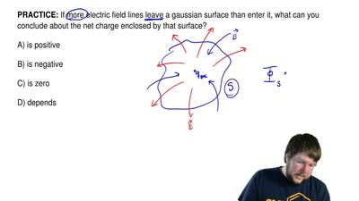 If more electric field lines leave a gaussian surface than enter it, what can ...