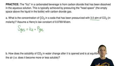 "The ""fizz"" in a carbonated beverage is from carbon dioxide that has been disso..."