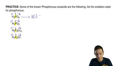 Some of the known Phosphorous oxoacids are the following, list the oxidation s...