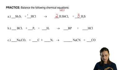 Balance the following chemical equations: ...