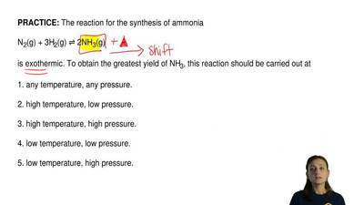 The reaction for the synthesis of ammonia  N2(g) + 3H2(g) ⇌2NH3(g)  is exot...
