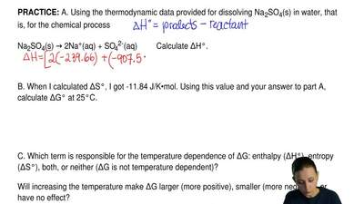 A. Using the thermodynamic data provided for dissolving Na 2SO4(s) in water, t...