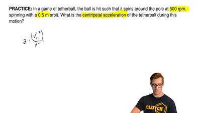 In a game of tetherball, the ball is hit such that it spins around the pole at...