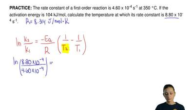The rate constant of a first-order reaction is 4.60 x 10 -4 s-1 at 350 °C. If ...