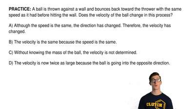 A ball is thrown against a wall and bounces back toward the thrower with the s...