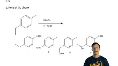 What is the major product of the following reaction?  a.I  b. II  c. III  d.IV...