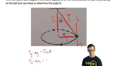 A ball of mass m = 1.30 kg is attached to a massless rope and swung in a horiz...