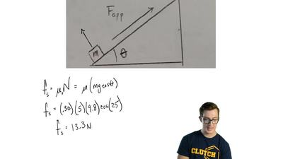 Consider the arrangement shown in the figure. A box of mass m = 5.00 kg is pus...