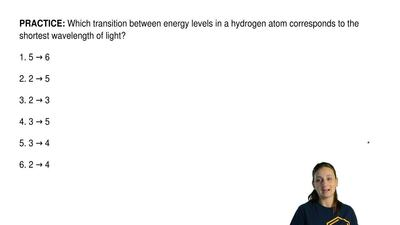 Which transition between energy levels in a hydrogen atom corresponds to the s...