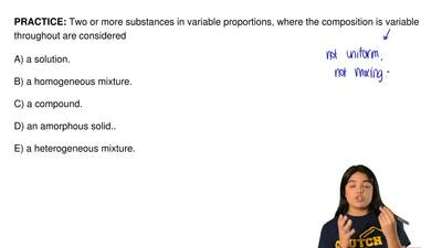 Two or more substances in variable proportions, where the composition is varia...