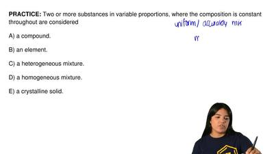 Two or more substances in variable proportions, where the composition is const...