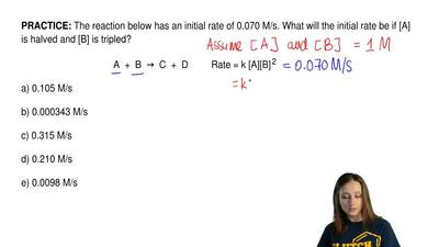 The reaction below has an initial rate of 0.070 M/s. What will the initial rat...