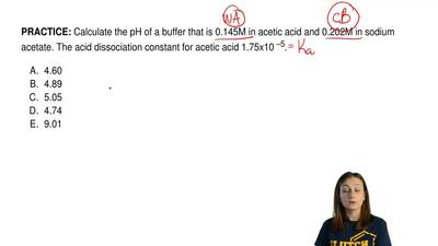 Calculate the pH of a buffer that is 0.145M in acetic acid and 0.202M in sodiu...