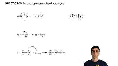 Which one represents a bond heterolysis?  ...
