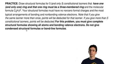 Draw structural formulas for 5 (and only 5) constitutional isomers that  have ...